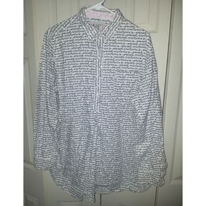 3/20--Victoria's Secret button down shirt